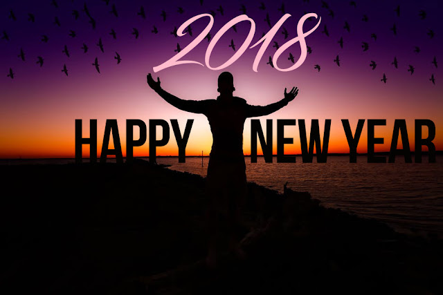 Happy New Year 2018 Greeting Cards