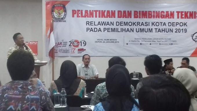 KPUD Depok Targetkan Tingkat Partisipasi Pemilu 2019 Capai 80 Persen