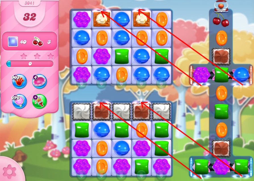 Candy Crush Saga level 3041