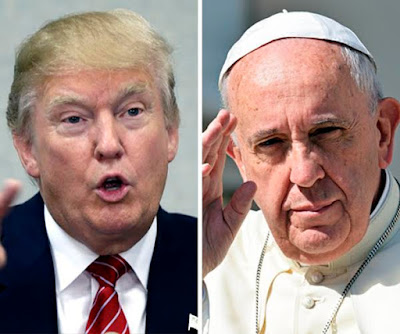 Pope Francis says Donald Trump's behaviour 'is not Christian', Trump fires back saying Pope's comments are disgraceful