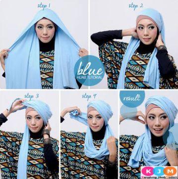 Contoh Gaya Hijab Pashmina