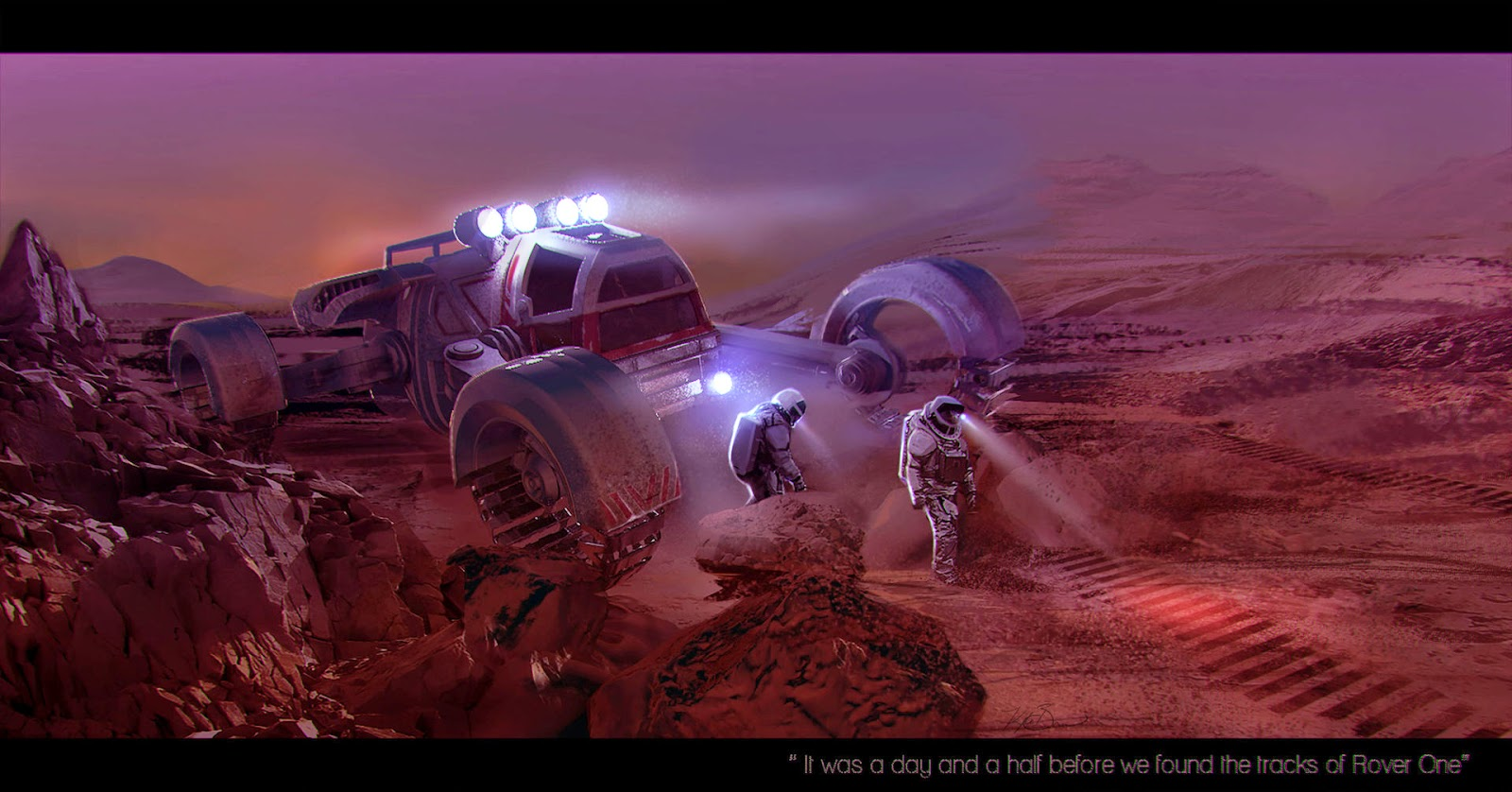 Astronauts exploring Mars by Kyle Brown