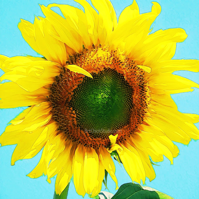 Dylan's Sunflower in Digital Art
