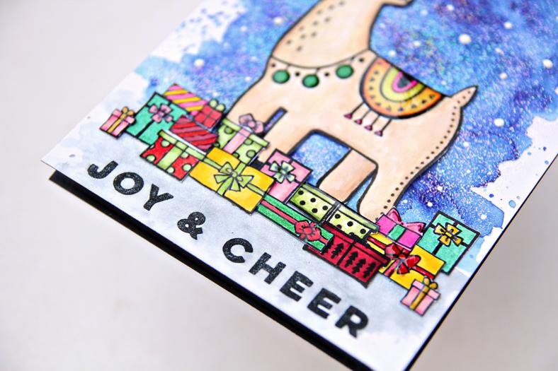 Pinkfresh Studio Festive Llama Stamp Set | Erum Tasneem | @pr0digy0