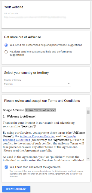 Google Adsense Terms and Conditions