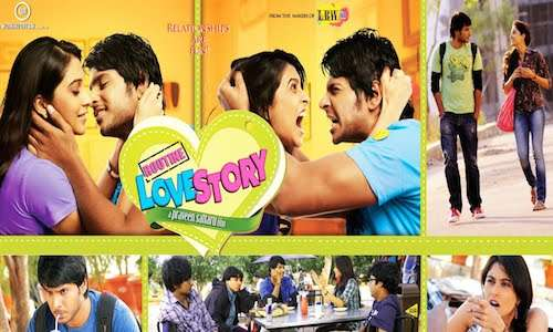 Poster Of Routine Love Story 2016 Hindi Dubbed 720p HDRip x264 Free Download Watch Online