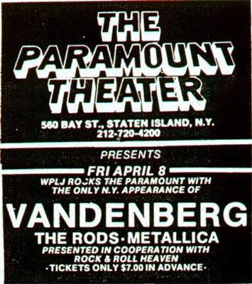 The Paramount Theater band line up ad