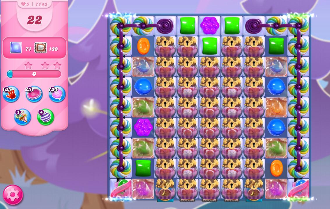 Candy Crush Saga level 7143