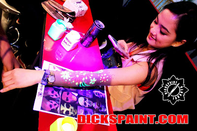 Face Body Painting UV Glow Jakarta