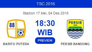 Prediksi Barito Putera vs Persib Bandung 4 Desember 2016