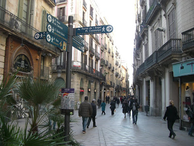 Portaferrissa shopping street in Barcelona