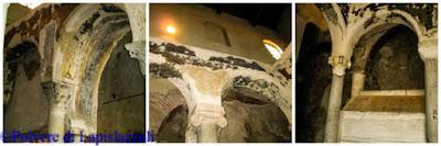 sopravvissuti mosaici della tomba di San felice nella basilica paleocristiana di Cimitile