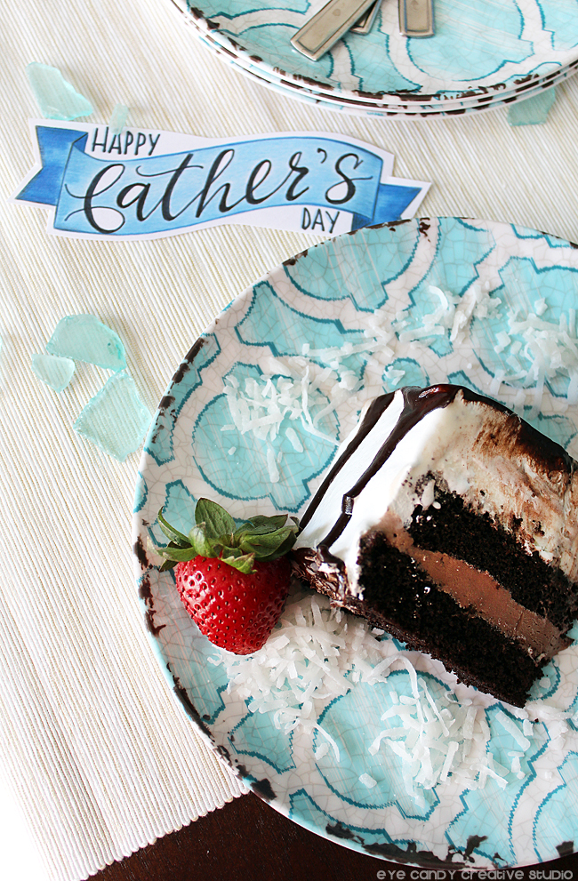 happy father's day cake topper, free father's day art, slice of cake