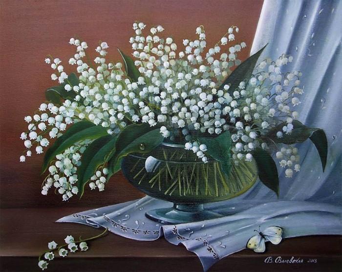 Акварельные рисунки цветов. Валентина Валевская 15