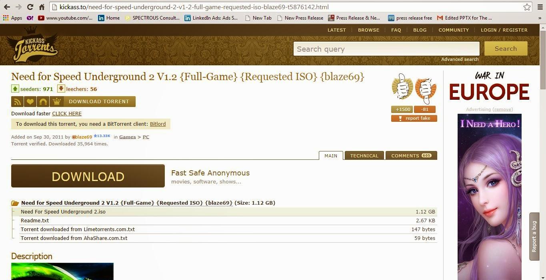 Need for speed underground 2 free download utorrent kickass
