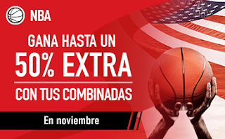 sportium Promocion NBA Noviembre extra combinada