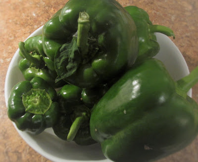 Bowl of green peppers-Vickie's Kitchen and Garden