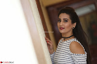 Manjusha in sleevelss crop top and black skirt at Darshakudu pre release ~  Exclusive Celebrities Galleries 029.JPG