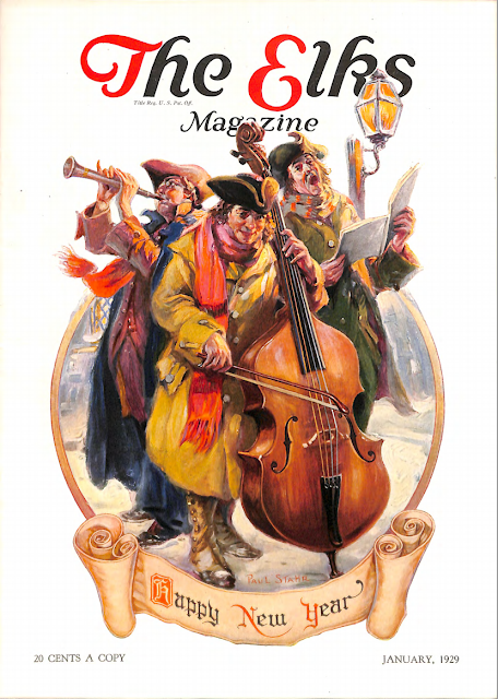 Cover by Paul Stahr for The Elks magazine 1929 January