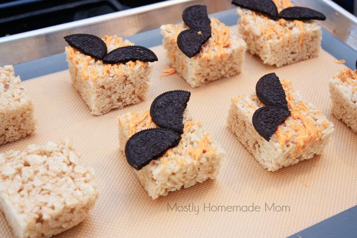 Spooky Bat Halloween Rice Krispie Treats | Mostly Homemade Mom