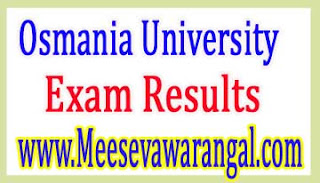 Osmania University M.Phil Rehab / Clinical Psychology Part-1 / 2 August 2016 Exam Results