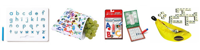 Alphabet themed stocking stuffer ideas for kids from And Next Comes L