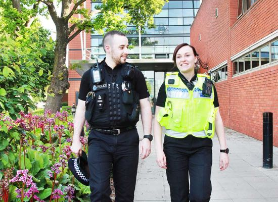 Hertfordshire police officers - image courtesy of Hertfordshire police