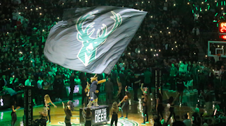 Bango destroys Boston Celtics fan with cake during Milwaukee Bucks Game 6 victory