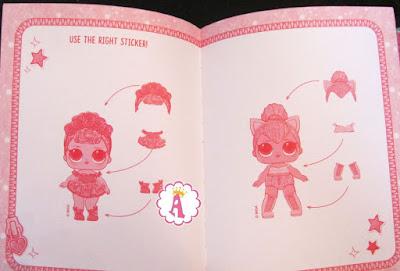 Наклейки для бумажных кукол Лол