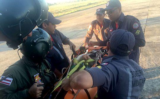 Vítima foi resgatada pelo Graer (Foto: SSP/Divulgação)