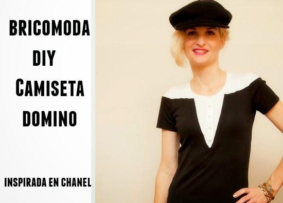 """Como hacer Camiseta """"Domino"""" Inspirada en Chanel"""