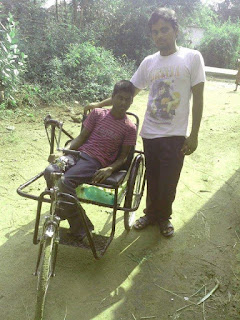 disabled helped by missionary in India