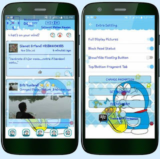 Download BBM Mod Doraemon Blue v3.3.0.16 Free Download