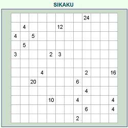 Sikaku or Rectangles