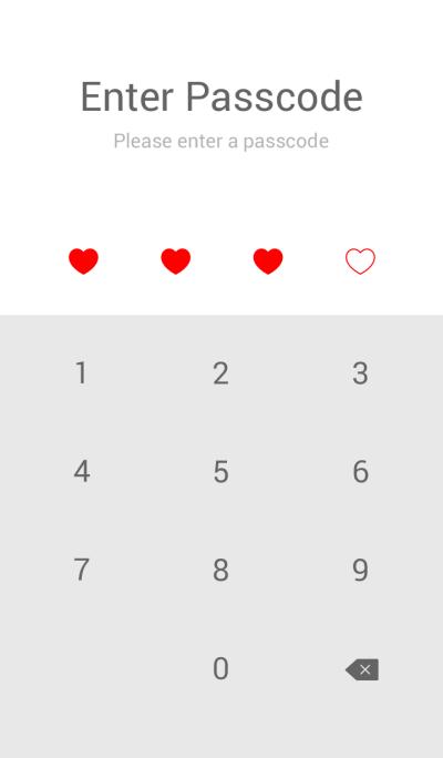 SIMPLE HEART(white red)V.26b