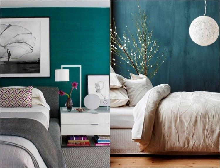 design : wohnzimmer petrol grün ~ inspirierende bilder von ... - Wandfarbe Grn Schlafzimmer