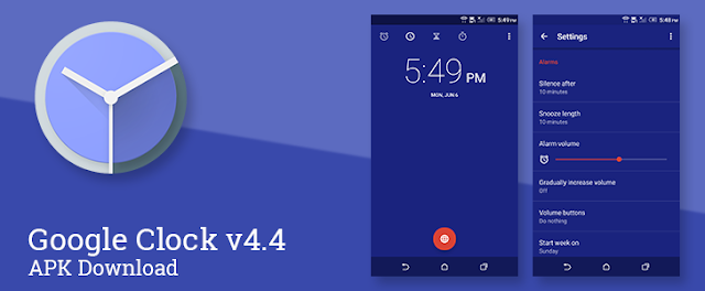 Google Clock v4.4 APK Update With New Visuals Changes and More