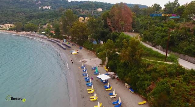 Πτήση με drone πάνω από την παραλία Αρίλλα στην Πέρδικα Θεσπρωτία