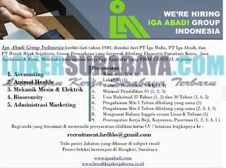 Lowongan Kerja di Iga Abagi Group Indonesia Surabaya Terbaru Mei 2019