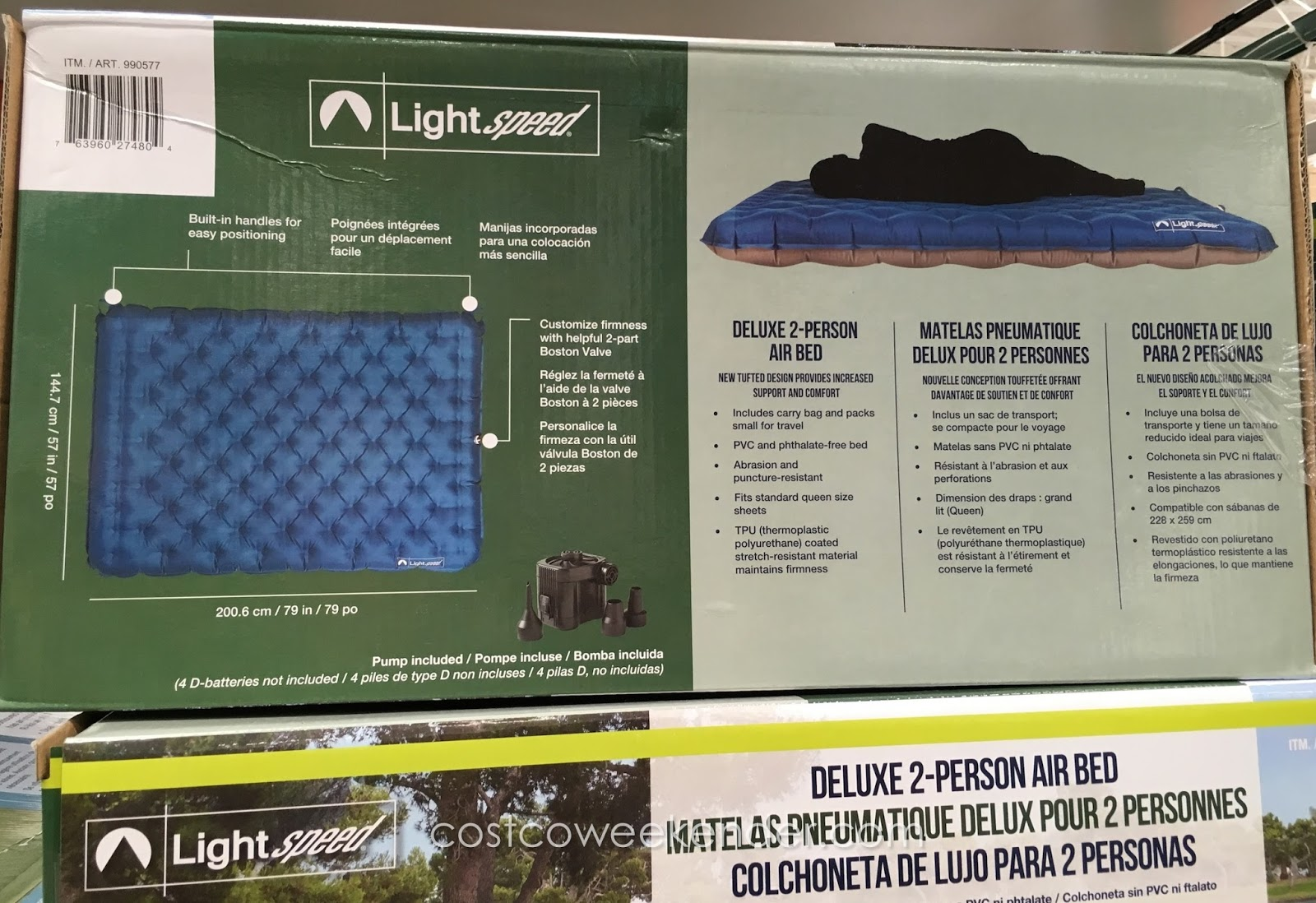 Lightspeed Deluxe 2 Person Airbed Costco Weekender