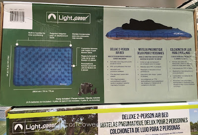 Costco 990577 - The Lightspeed Deluxe 2-Person Airbed provides a soft surface and gets your off the cold ground