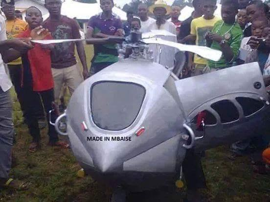 Helicopter made in Nigeria!