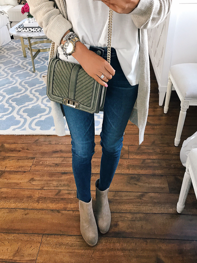 Rebecca Minkoff small love nubuck crossbody bag