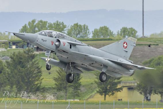 Mirage IIIDS J-2012 beim Start in Payerne am 21.05.2019