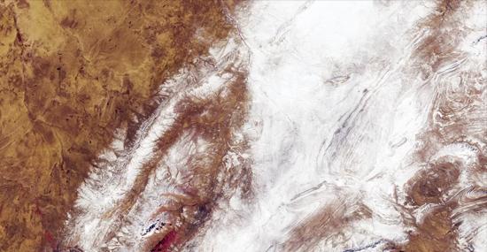 Nevou no Deserto do Saara e os satélites registraram tudo - Capa