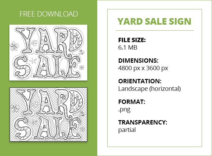free printable yard sale sign download craigslist garage sales