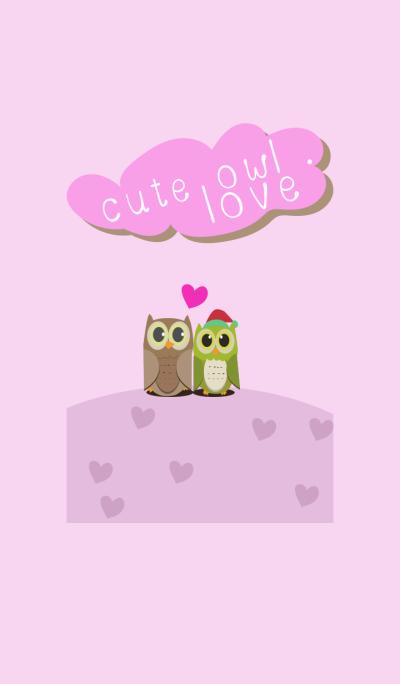 Cute Owl Love .