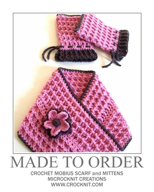 crochet patterns, how to crochet, mobius, scarf, mittens, fingerless,