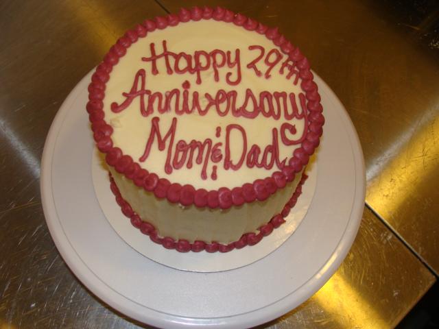 Door County Custom Cakes And Cookies 29th Wedding Anniversary