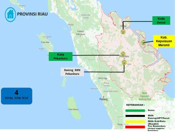 Lokasi Tes Cat BKN Propinsi Riau
